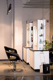 Our stylist stations at PLUM